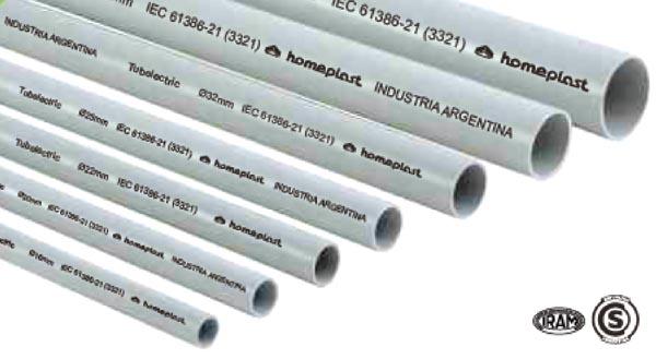 Tubería de PVC rígido y flexible para canalización eléctrica