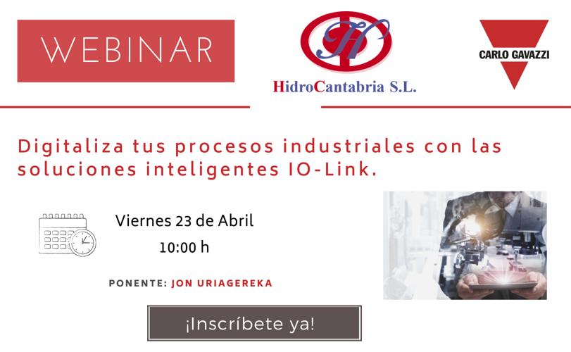 """Webinar """"Digitaliza tus procesos industriales con las soluciones IO-LINK"""""""
